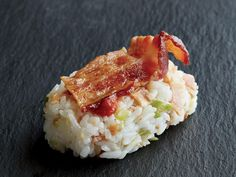 MyRecipes recommends that you make this Bacon Nigiri recipe from Cooking Light Light Appetizers, Appetizer Recipes, Snack Recipes, International Sushi Day, Sushi Style, Nigiri Sushi, Cooking Light Recipes, Pork Dishes, Side Dishes