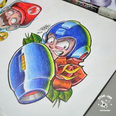 Megaman Fanart Tattoo Newschool Churus Savioli