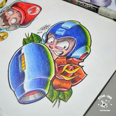 Megaman Fanart Tattoo Newschool Churus Savioli