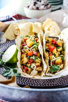 Grilled pineapple gives tacos a juicy, tropical twist. Get the recipe from Carlsbad Cravings.   - Delish.com