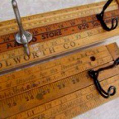 Ways to use old yard sticks