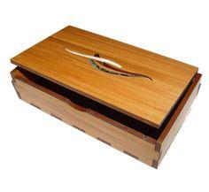 Wooden Trinket Box /Memory Box - Waves Design | Shop New Zealand