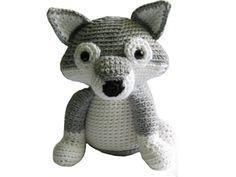 Gabriel the Grey Wolf - Crochet