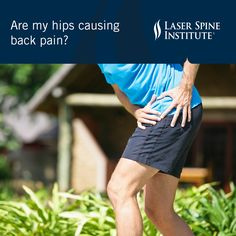 Poor #hip #health is bad news for the #spine. Dr. Jennifer Bowser, a Laser Spine Institute #Chiropractor, explains why.