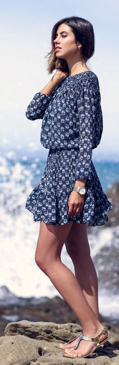 Casual Look Printed Inspiration Dress by Vivaluxury