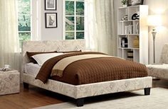 Furniture of America Voyager Upholstered Platform Bed, California King ** You can find more details by visiting the image link.