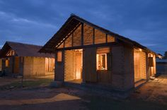 Built by Shigeru Ban Architects in Kirinda, Sri Lanka with date 2007. Images by Dominic Sansoni. This project provides 100 houses in a Muslim fishing village, in the region of Tissamaharama, on the southeast coast ...