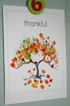 Thanksgiving Craft Ideas Pinterest   Art Thanksgiving Finger Print Tree crafts-gifts   Craft Ideas