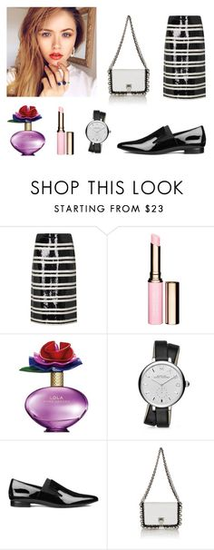 """[Pointed Flats and striped-skirt] 2016 BRYAN YANG'S PERFECT MATCHING 200"" by bryan-yang ❤ liked on Polyvore featuring Alice + Olivia, Clarins, Marc Jacobs, Marc by Marc Jacobs, Alexander Wang and Proenza Schouler"