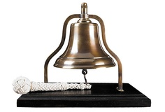 Centuries of sailors of used bells on ships. Add one like this to your beach cottage as hommage to sailing traditions.