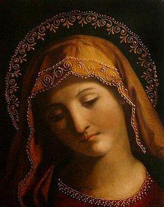 Virgin Mary Catholic Oil Painting Religious Art from Peru - Venerating the Virgin | NOVICA Juan Bosco, Holy Mary, Mary I, Mama Mary, Catholic Saints, Catholic Art, Madonna And Child, Santa Maria, Holy Family