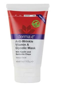 DERMA E ANTI-WRINKLE VITAMIN A GLYCOLIC MASK ($19) Our favorite products from derma e has to be the Vitamin A line. Who says you have to buy a $100 bottle of retinol infused product to reap its skin plumping benefits.