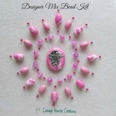 Pink Fairy Flower Girl Bubble Gum Pendant Designer Mix Bead Kit