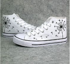 Dandelion Converse shoes Custom Converse by Kingmaxpaints on Etsy, $42.00