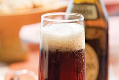 Black Velvet - 3 oz. Guiness and 3 oz. champagne, both chilled. Pour Guiness into a chilled flute, top with champagne.