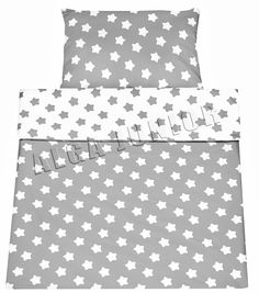 Grey Spots//Grey Chevron Baby/'s Comfort Reversible Bedding Set 2-P 120 x 90 cm