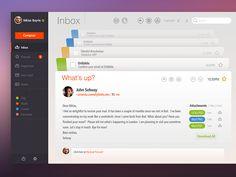 dribbblepopular: Email App Original:... | Awesome Design Inspiration