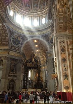 """St. Peters Basilica. """"you are my rock and upon this rock I will build my church""""."""
