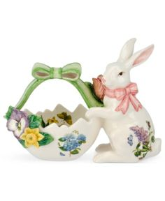 Bunny Easter Candy Dish is perfect for filling with the colorful candies and festive Easter treats...  #easter #gifts