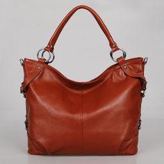 Leather hobo Flamingo brown---Adeleshop handmade Leather bag Messenger Diaper bag Shoulder bag Tote Handbag Hip bag Women. $165.00, via Etsy.