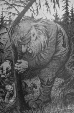 Norwegian Troll Tales by Joanne Asala Trolls in Norway are found in seas, mountains and Fjords. Decades ago Asbjornsen and Moe first collec. Theodore Kittelsen, Original Fairy Tales, Trolls, Illustrator, Most Popular Artists, Misty Forest, Folk, Mythological Creatures, Mythical Creatures