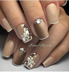 Pictures Of Nail Art Designs Collection super schn brautnagelkunst schne gelngel und nageldesign Pictures Of Nail Art Designs. Here is Pictures Of Nail Art Designs Collection for you. Pictures Of Nail Art Designs these chic nail art designs show h. Elegant Nail Designs, Elegant Nails, Beautiful Nail Designs, Nail Art Designs, Nails Design, Brown Nail Designs, French Pedicure Designs, Beautiful Nail Art, Fancy Nails