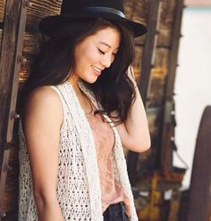 ((FC: Arden Cho)) Hi, I'm Lara Jean Song-Covey. I'm a new student and a junior. Um, I joined the glee club because I actually do like singing and think it looks pretty fun. I'm pretty smart, although I'd never admit it. I'm generally very quiet, but I'm friendly, and once you get to know me awkward and funny. I like to read, bake, play with my dog, I play and piano and cello, and oh God, I'm gonna stop now before I bore you even more with my pathetic life. I don't have many friends at the…