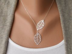 Leaf Necklace, I got it as a surpise in the mail from my sis!! Soo excited, love it :)
