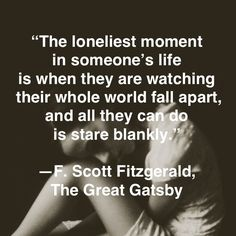 The great Gatsby: Sums up how I felt this last 5 days, particularly this morning.