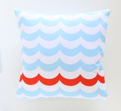 Pencil Shavings Studio Nautical Pillow by PencilShavingsStudio