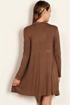 dda8079c57 SOLID JERSEY KNIT MOCK NECK DRESS Wholesale Clothing