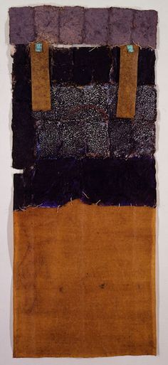 D-2.May.1990  138x57cm  painting, collage on paper  林孝彦 HAYASHI Takahiko 1990   this photo by Galerie Tokyo Humanité