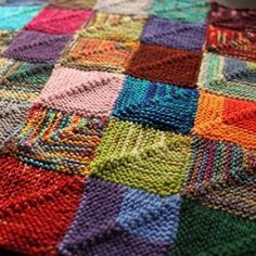 A free pattern/recipe for knitting a sock yarn patchwork project.