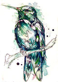 Abby Diamond: Pájaros con sangre de acuarela - Cultura Colectiva