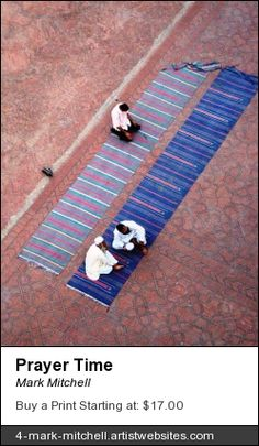 Prayer time at an old mosque in Lahore, Pakistan.