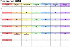 33 best printable calendar december 2018 images on pinterest in 2018