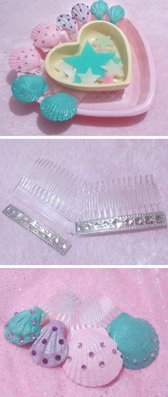 DIY: Seashell Hair Combs | Viva La DIY via @vivaladiy