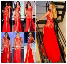 Miss America Loves Our MacDuggal 61041R Dress! Shop NewYorkDress at NewYorkDress.com or follow our blog at www.NewYorkDress.com/blog. #fashion #party #prom #wedding #newyork #gowns #dresses #accessories #red