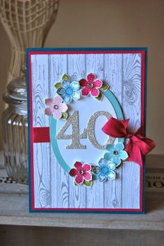 Stampin up card using Petite Petals made by Julie Kettlewell                                                                                                                                                                                 More