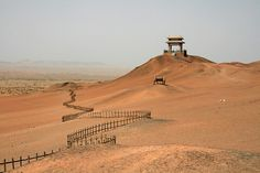 Fence at the end of the world…Yang Guan Pass, Dunhuang, Gansu, China (icture: Benoit Cappronnier)