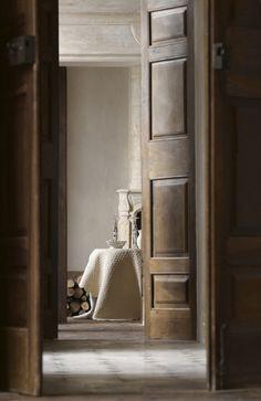 French provence chateau, wood doors # home interior # interior design # decor ideas # interior designer # provence interior designer # alpilles # luberon # shabby chic # rustic chic Interior Architecture, Interior And Exterior, Brown Interior Doors, Rustic Exterior, Door Design, House Design, Greige, Haute Provence, Provence Interior