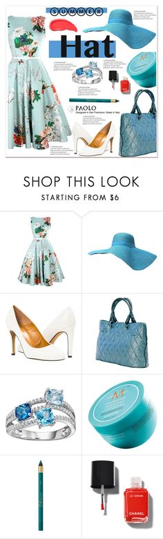 """""""Summer Hats and PaoloShoes"""" by spenderellastyle ❤ liked on Polyvore featuring Moroccanoil, Chanel, Urban Decay and summerhat"""