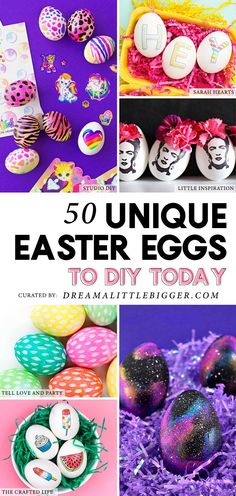 Awesome indoor activities for kids! Tired of run-of-the-mill Easter eggs? Check out this amazing collection of unique, fun and gorgeous ways to decorate your Easter eggs this year! Easter Crafts, Crafts For Kids, Diy Crafts, Easter Decor, Easter Ideas, Spring Crafts, Holiday Crafts, Holiday Ideas, Galaxy Easter Eggs