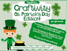 This 3D Craftivity is an entertaining and engaging literacy-based lesson incorporates coloring sentence writing, and creative writing practice for the elementary students. This St. Patricks Day Craftivity is an activity that incorporate creative writing, while also practicing the basic fundamentals of writing.
