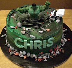 hulk birthday cakes think i may make this one for my zach's birthday party