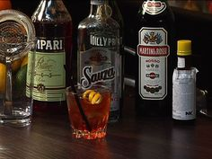 Rosita:  1 ½ ounces silver tequila ½ ounce sweet vermouth ½ ounce dry vermouth ½ ounce Campari dash Angostura bitters