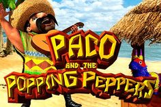 ➤ Enjoy Paco and the Popping Peppers™ online slot FREE demo game at SlotsUp™ ✅ Instant Play! ✚ Best BetSoft Online Casino List to play Paco and the Popping Peppers Slot for Real Money ✓ Online Casino, 3d Video, Free Slots, Slot Online, Gaming, Logo, Blue, Videogames, Logos