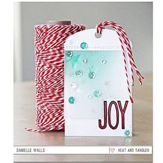 Danielle is on the blog with a tag for @traceymcneely 's 25 Days of Christmas Tags! There are lots of gorgeous tags today using Neat and Tangled, so be sure the head to Tracey's blog! #neatandtangled #tags #cards #stamps #stamping #christmas