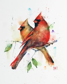 Dean's Art - Birds - Page 1 - The Art of Dean Crouser Watercolor Bird, Watercolor Animals, Watercolor Illustration, Watercolor Paintings, Simple Watercolor, Tattoo Watercolor, Watercolor Landscape, Watercolor Background, Watercolor Hummingbird