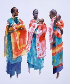 Mother Africa (watercolor, 30×22) by Hazel Soan. Read this exclusive interview…